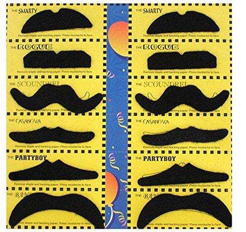 ets) schwarz selbstklebend Funny Fake Schnurrbart Bart für Halloween-Kostüm Party Cosplay Make-up Requisiten (Halloween-kostüme-w-bärte)