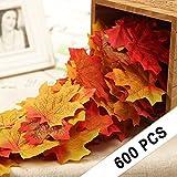 CXDY 600 Stück künstliche Ahornblätter, Herbstblätter, gemischte Girlanden, Hochzeit, Haus Dekorationen Ahornblätter, 600 Stück