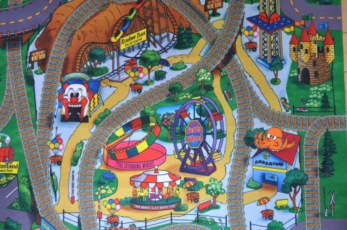 Silli Me Amusement Park Felt Play Mat with Train Track Design
