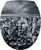 Sticker Autocollant Abattant WC New York vue du Ciel 35x42cm SAWC0025