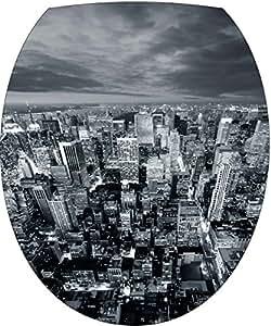 Sticker Autocollant Abattant WC New York vue du Ciel 35x42cm SAWC0025