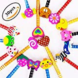 Lápices Infantiles con Borrador de Dibujos Multicolores 30 pcs, KimKo Lápices para Niños Regalos para