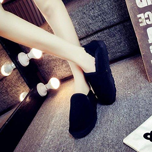 Le coppie caldo cotone slip monoblocco corto per aiutare lazy pane piedi scarpe black