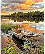 Perkisboby DIY Paint by Numbers Kit, Canvas Oil Painting Kits with Acrylic Pigment & 6 Brushes for Kids Ad