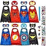 Disfraz De Superhéroes para Niño - Regalos De Cumpleaños para Niña - 8 Capas Y Máscaras - Juguetes para Niños Y Niñas - Logo Brillante
