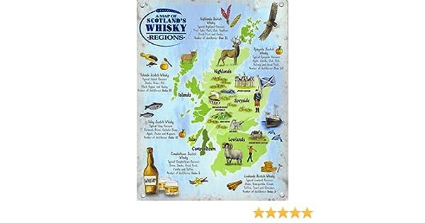Scotch Drink Scottish tartan Burns Poem Whisky sign A4 metal plaque