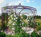 ELEO Florenz runder Rosenpavillon, Ø 3,7 Meter (Oberfläche: roh / Edelrost)