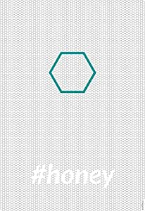 Poster grafico di architettura #HONEY