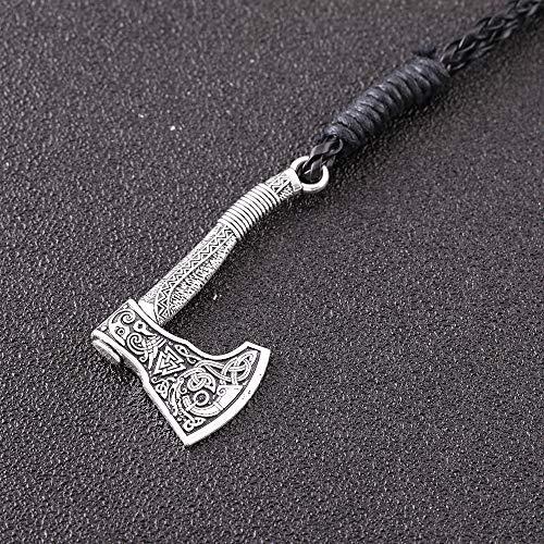 Imagen de teamer  pulsera con diseño de hacha vikinga nórdica, amuleto y triquetra, regalo para hombres y mujeres alternativa