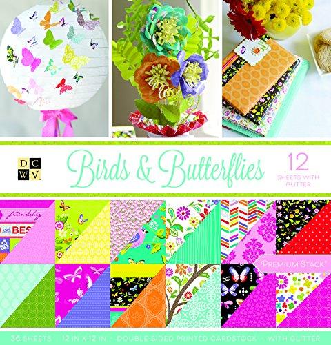 American Crafts Vögel und Schmetterlinge Premium Bedruckt Stack -