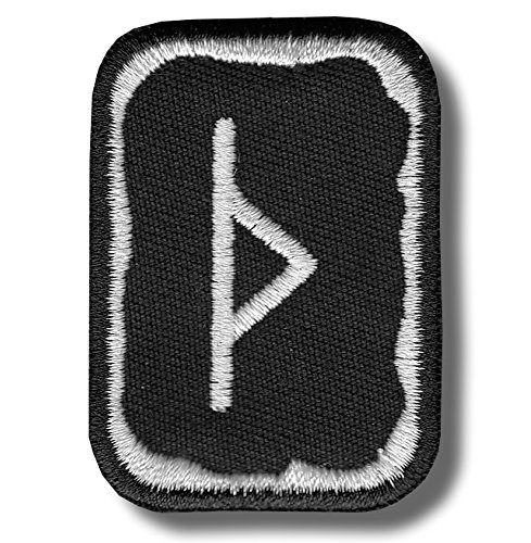 Thurisaz rune - bordado parche, 4 X 5 cm