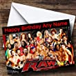Personalised Wwe Raw Birthday Card from Party Animal Print