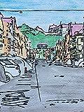 Artland Qualitätsbilder I Wandtattoo Wandsticker Wandaufkleber 30 x 40 cm Architektur Gebäude Sehenswürdigkeiten Mixed Media Bunt D5EW Neustadt Landshut