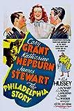 ODSAN The Philadelphia Story, Katharine Hepburn, Cary Grant, James Stewart, 1940 - Premium-Filmplakat Reprint 24x36 Inch