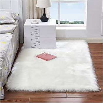 0acdb9593b7 Faux Fur Rug Soft Fluffy Rug 80 x 150 cm Shaggy Rugs Faux Sheepskin Area  Rugs
