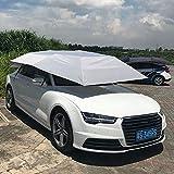 Dailyinshop Halb Automatische Markise Zelt Auto Abdeckung im Freien Wasserdichte Tragbare Auto Regenschirm (Farbe: Grau)