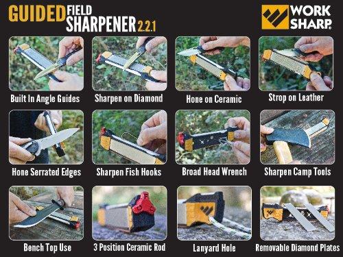 Work Sharp Guided Field Sharpener – WSGFS221 Knife and Tool Guided Field Sharpener – World's Top Manual Guided…