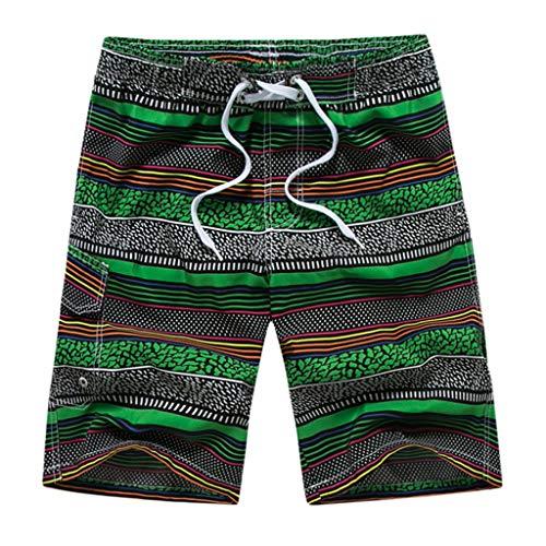 Oyedens Kurze, Schnell Trocknende Strandhosen für Männer Und In Europa Amerika Men's Casual Fashion Printing Strand Surfen Schwimmen Lose...