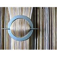 AeMBe - cadena de cortina cortina cortina de hilo puerta - 150 cm X 250 cm - (blanco / color crudo / beige) Sombras - Alta Calidad