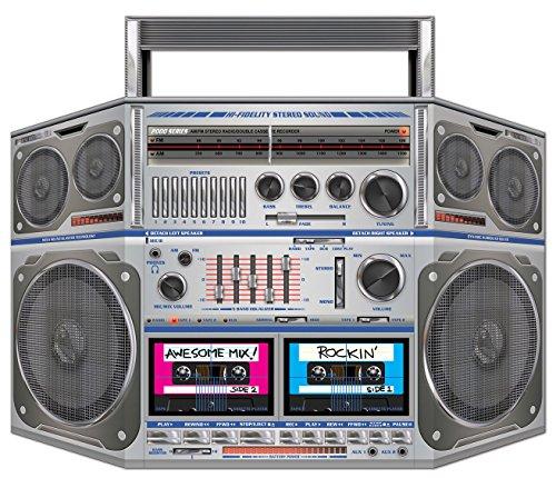 Beistle 57851 1 - Boom Box Stand-Up Party Deko 1 Teil Pkg of 1 mehrfarbig