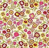 Klebefolie - Möbelfolie Fleur - bunte Blumen - 45 cm x 200 cm Selbstklebende Folie Blümchen Motiv - Dekorfolie Selbstklebefolie