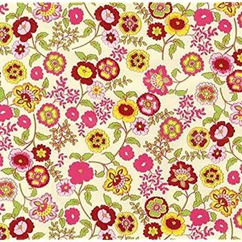 45 cm x 200 cm Dekorfolie Bastelfolie Möbelfolie bunte Blumen Klebefolie