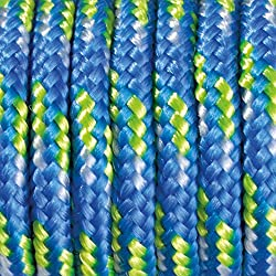 Paracord - Rollo de cordaje (2 mm x 5 m), color azul, verde claro y blanco