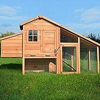 Zooprimus Hühnerstall 145 Geflügelhaus - HÜHNERHAUS-XL - Stall für Außenbereich (für Kleintiere: Hühner, Geflügel, Vögel, Enten usw.)