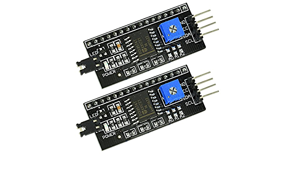 12C SERIAL INTERFACE ADAPTER PLATE LCD BACKPACK MODULE