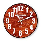 DIDADI Wall Clock Creative orologio da parete continentale in legno di antiquariato arte soggiorno moderno minimalista mute orologi al quarzo di personalità in legno 12 pollici - DIDADI Wall Clock - amazon.it
