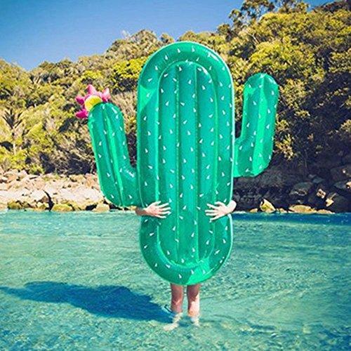 s Spielzeug Riesen Aufblasbar Kaktus Wasser Schweben Floß Sommer Schwimmen Pool Liege Strand Ring ()