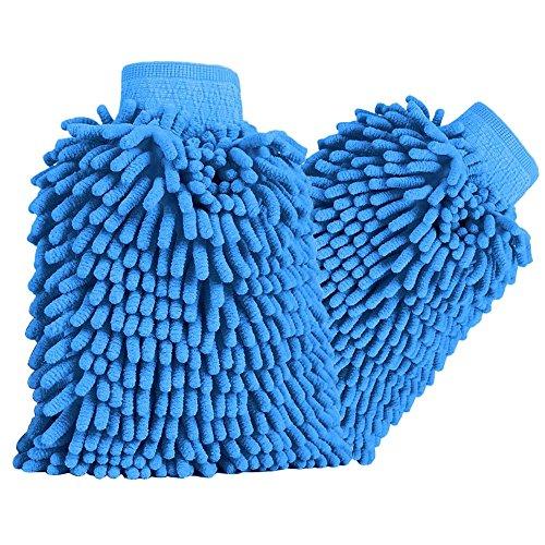 Autowaschhandschuh-HiKeep-wasserdicht-weicher-Mikrofaser-Chenille-Korallen-Waschhandschuhe-fr-Autowsche-Haushalt