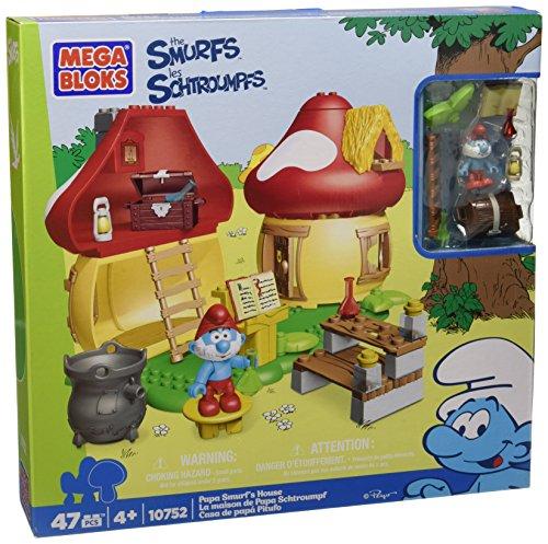 Mega Bloks Papa Smurfs House Building Playset
