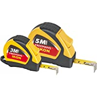 FREEMANS Ikon Plastic 3 m and 16 mm and 5 m and 19 mm Measuring Tape (Golden Yellow)