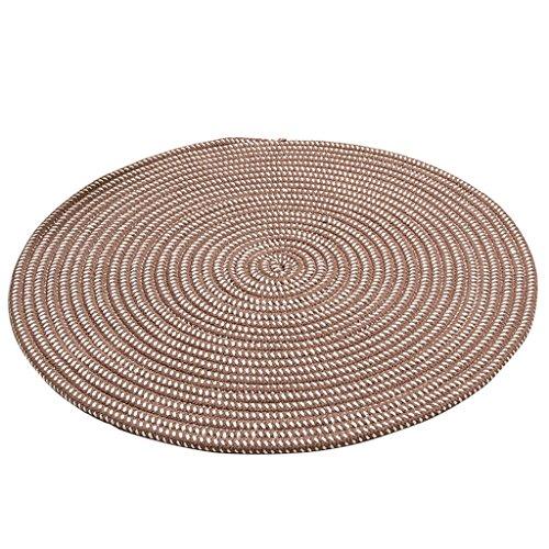 Dekoration Teppich Deep Camel Round Teppich, Seil Serie Weave Mat Computer Stuhl Kissen Hanging Basket Pad Wohnzimmer Schlafzimmer Teppich Soft   Anti-Rutsch   Keine Milben ( größe : Diameter 150CM )