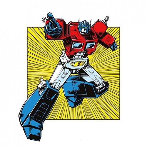 Transformers - G1, Optimus Prime Retro Square Cuadro, Lienzo Montado S