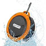 Speaker Shower Waterproof With Lights Water Resistant With 5w Polk Mini Portable 3.0 With Sd Card Slot Technology - Orange