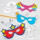 """Baker Ross Masken """"Superhelden"""" zum Ausmalen (6 Stück)"""