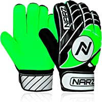 NARZ Goalkeeper Gloves for Kids with Super Grip Latex Having Shock Absorption Padding To Protect Kids' Palms and Fingers…