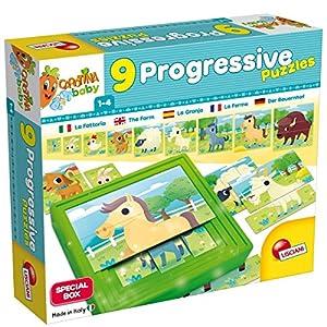 Lisciani Giochi 58440-Carotina Baby Progressive Puzzle The Farm