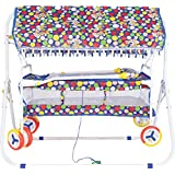 Orril Baby Kick And Play Crib Cum Palna Cum Baby Bedding Set With Mosquito Net .foldable