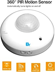 Blackt Electrotech 360 Degree PIR Motion Sensor with Light Sensor (Ceiling Mounted, White)