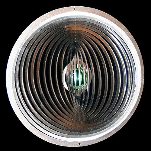 Vent en acier inoxydable cercle carillon ø 19 cm ø- avec boule de 25 mm (vert) pour le jardin et comme fensterschmuck