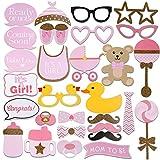 Fenical Foto-Requisiten, 29Stück, für Babypartys, Masken, Rosa, klassische Kostümteile und Requisiten für neugeborene Mädchen, Party-Dekoration