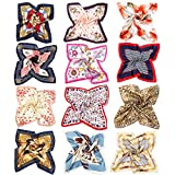 Vbiger Pañuelo de Seda Cuadrado para Mujer ,12 pcs