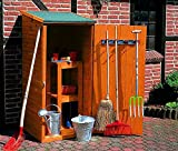 Promadino Geräteschrank klein 78x78x164cm Holzschrank honigbraun 358/17 Holz
