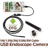 Hanbaili Endoscope androïde avec la vidéo d'appareil-photo de 7mm LIVE, câble d'adaptateur de 1 mètre de longueur de câble d'