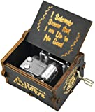 PATPAT® Antique Carved Wood Music Box Retro Ancient Hand Crank Music Case Birthday Gifts Ornament Decoration