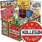 Beste Kollegin | Schokolade Korb | Geschenkkorb | Beste Kollegin | Geschenk Kollegin beste | mit Mokka Bohnen, Kalter Hund und mehr
