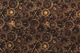 100% coton Tissu imprimé–Gamme Steampunk–horloges–au mètre